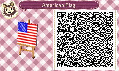 Drapeau ACNH Drapeau américain QR Code