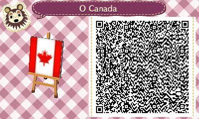 Drapeau ACNH Drapeau canadien QR Code