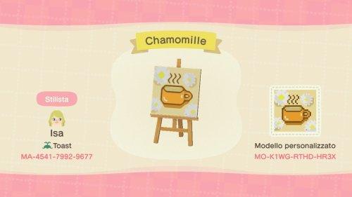 Animal Crossing New Horizons Town Drapeaux Codes Thé à la camomille