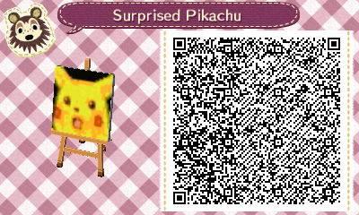 Animal Crossing New Horizons Codes de drapeaux de ville Pikachu