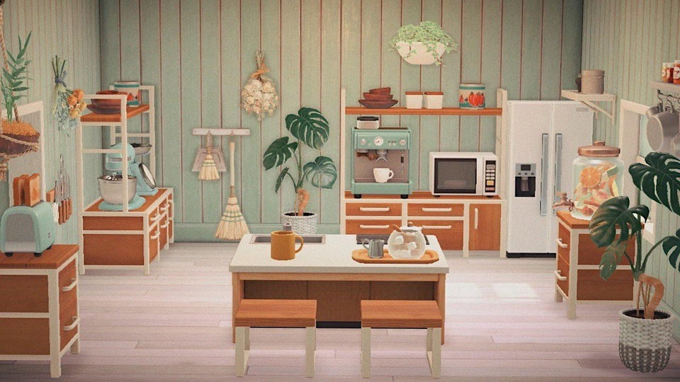 Meilleures cuisines New Horizons Animal Crossing - Teal Ironwood