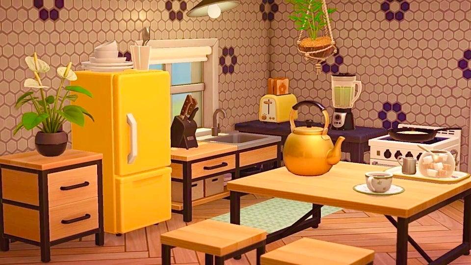 Meilleur Animal Crossing New Horizons Cuisines Retro Vintage Ironwood