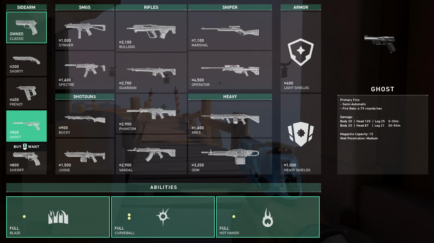 Meilleures armes vaillantes - Fantôme
