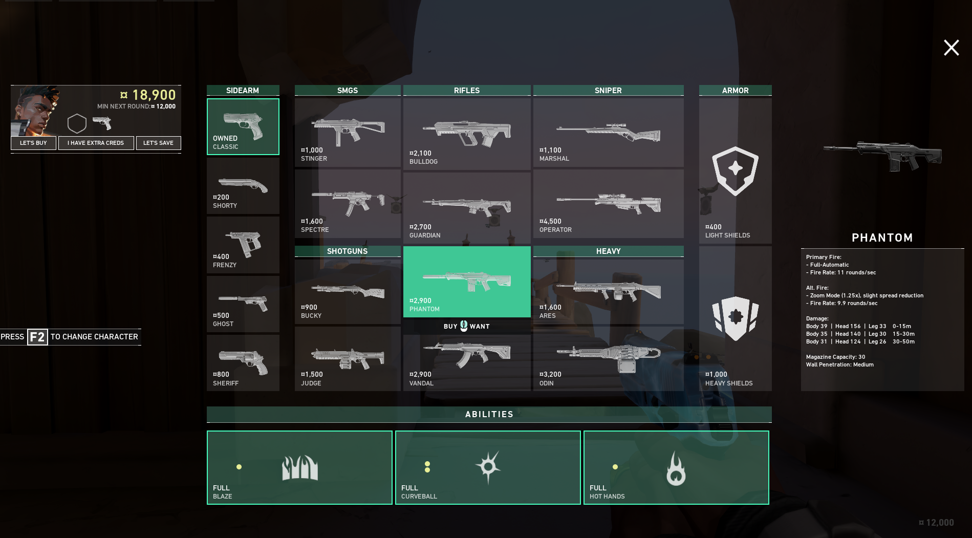 Meilleurs fusils Valorant - Phantom