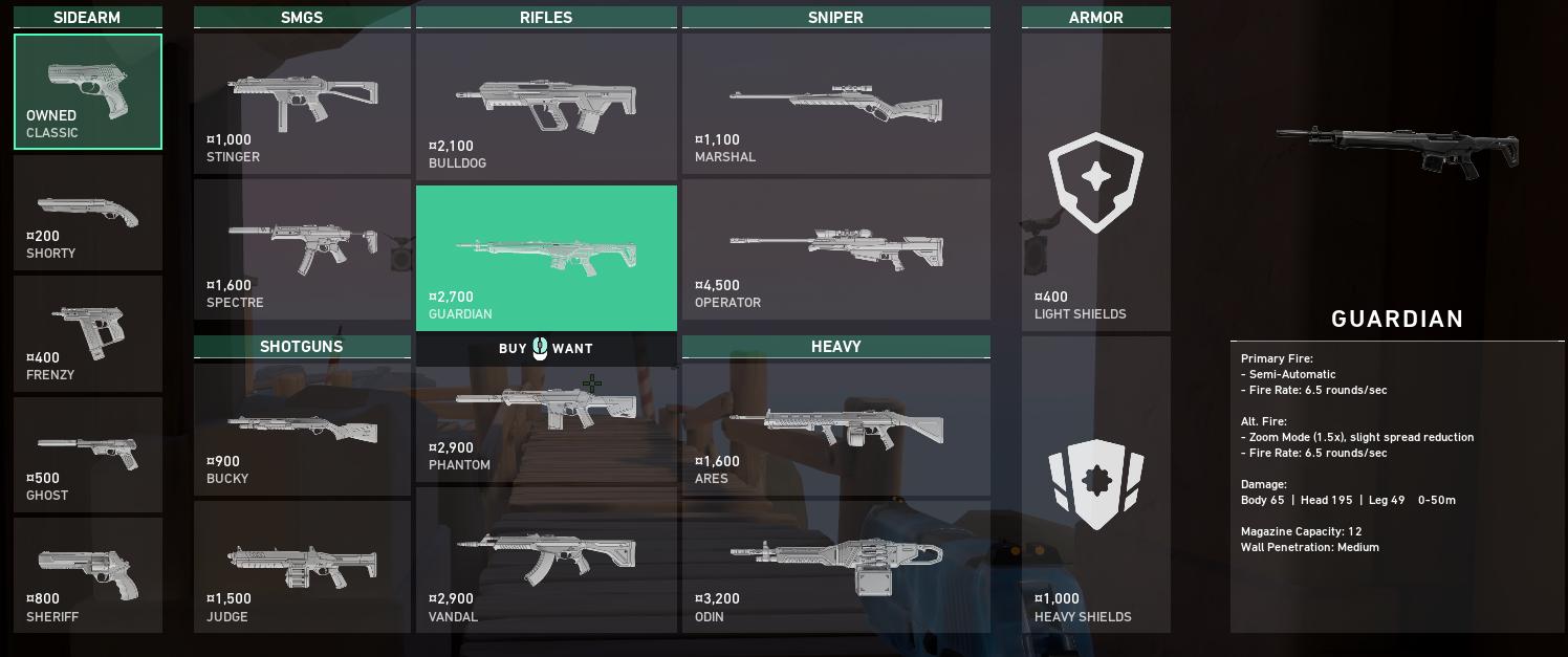 Meilleures armes vaillantes - Gardien
