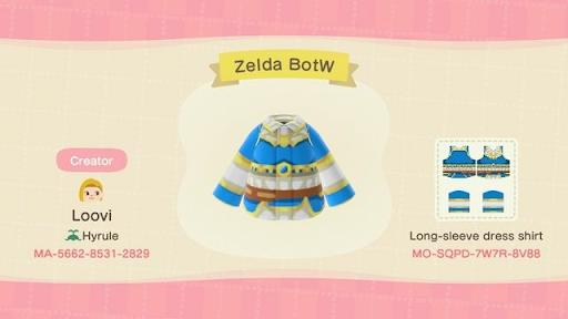 Costumes et dessins de Zelda Animal Crossing gratuitement