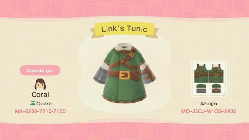 Tenue Link Animal Crossing