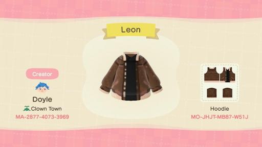 Leon Resident Evil 4 Animal Crossing New Horizons habille costumes et designs