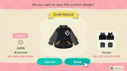 Designs Overwatch dans Animal Crossing