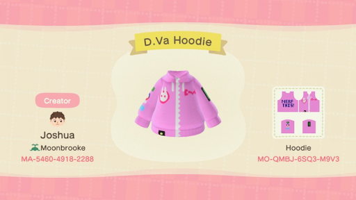 d.va animal crossing free designs for outfits costumes and other things