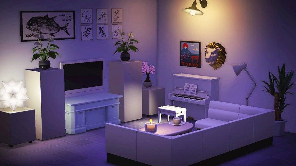 Animal Crossing New Horizons Living Designs - Salon moderne