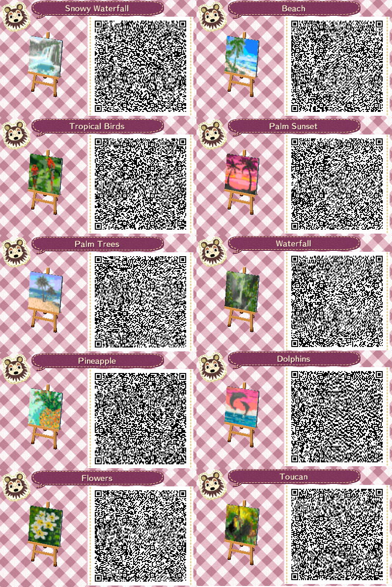 Animal Crossing New Horizons Town Drapeaux Codes Tropical Island