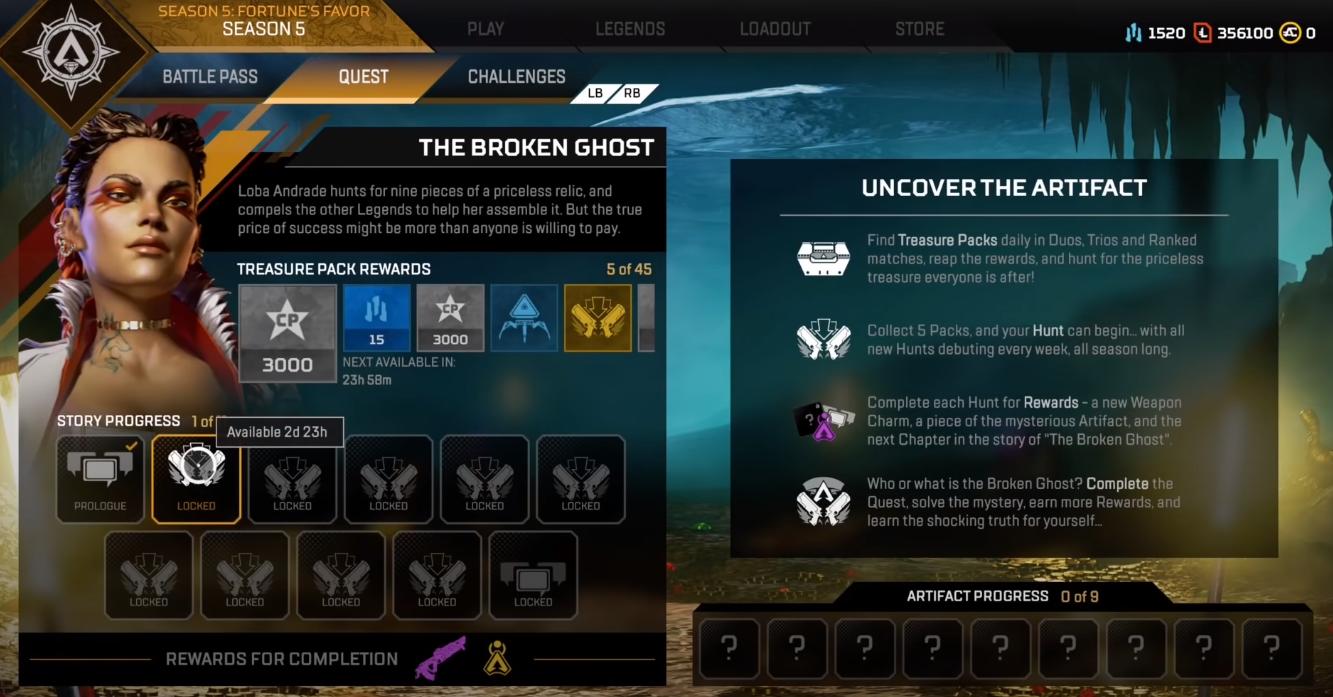 Comment débloquer des pièces d'artefact dans Apex Legends