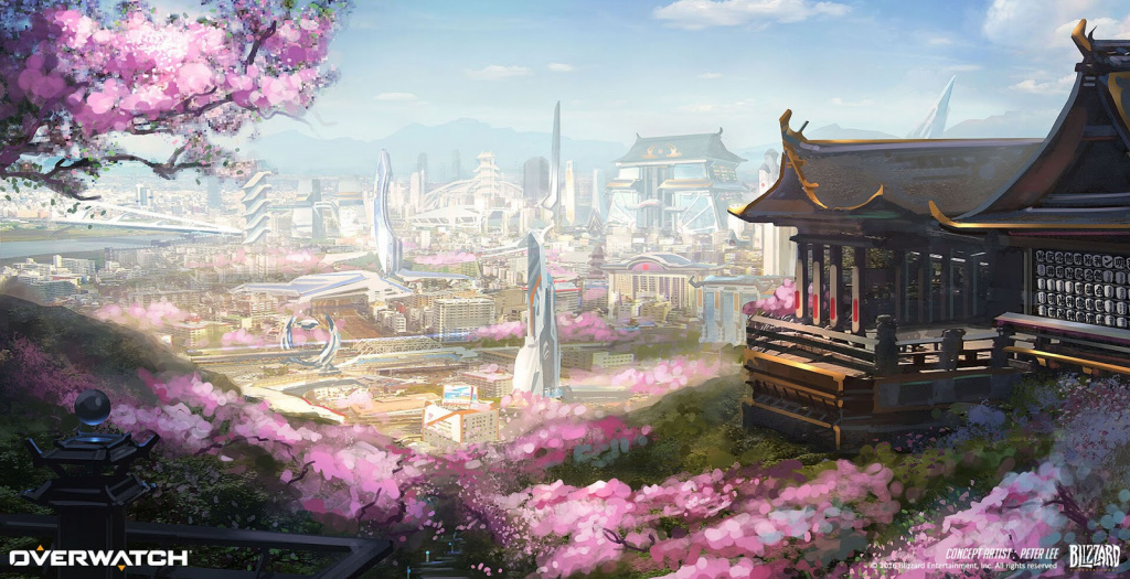 Kyoto Overwatch carte concept art