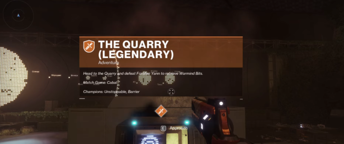 Quarry Legendary Lost Sector Location