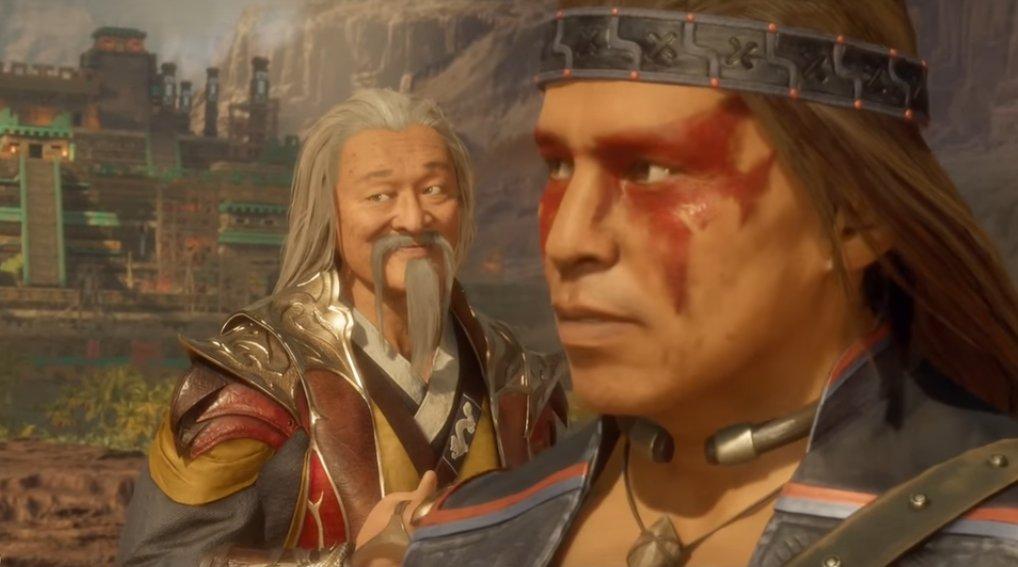 Le visage suffisant de Shang Tsung Mortal Kombat 11
