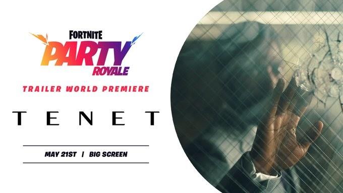 Les fans de Fortnite recevront un aperçu exclusif de Tenet dans la première de Party Royale