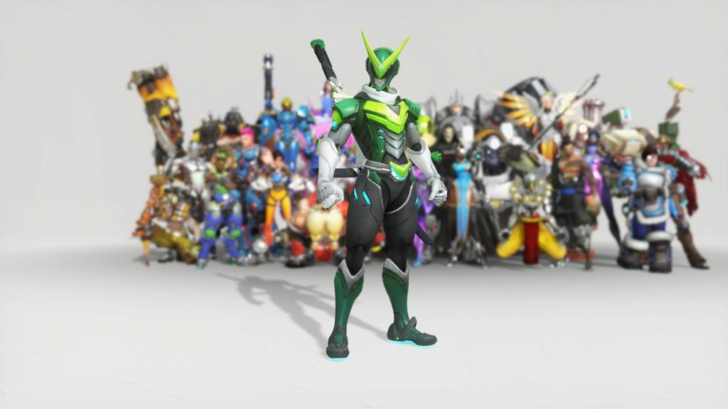 Les meilleurs skins d'anniversaire Overwatch Sentai Genji
