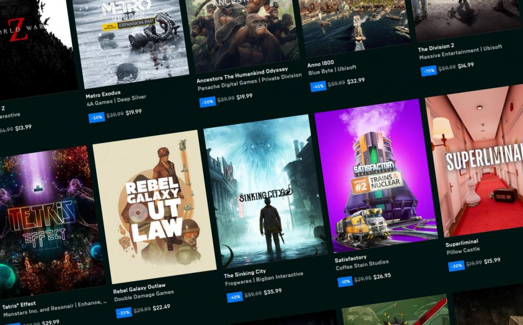 epic store jeux gratuits