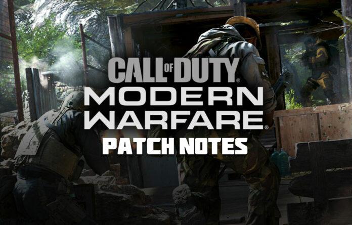 Modifications de la mise à jour de Call of Duty Modern Warfare du 12 mai