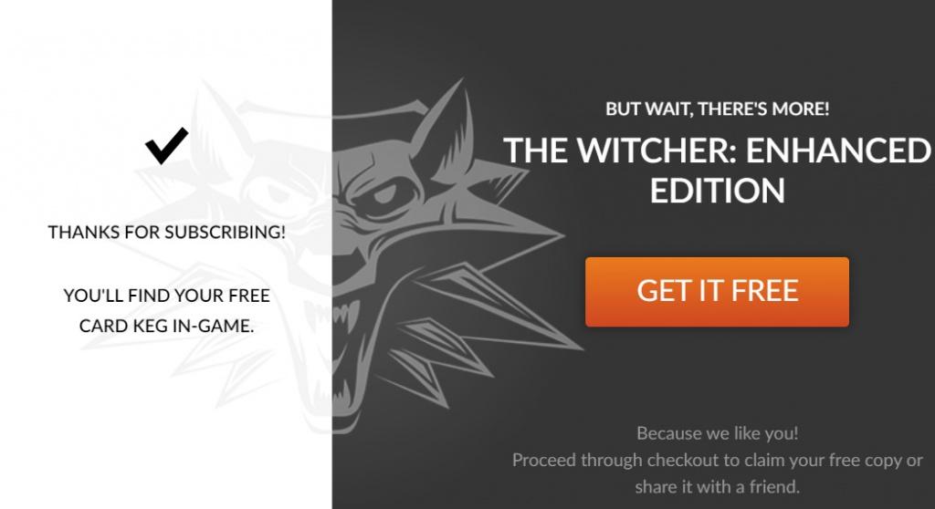 Le jeu gratuit gratuit The Witcher Enhanced Edition