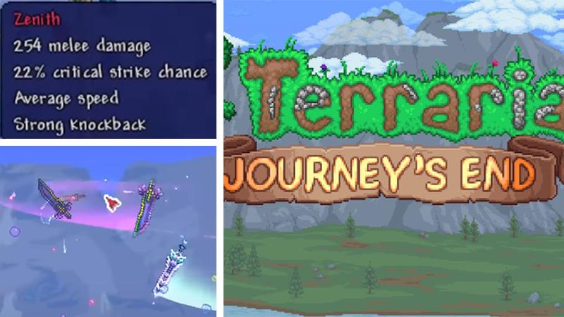 Terraria 1.4 Journey's End Zenith Weapon
