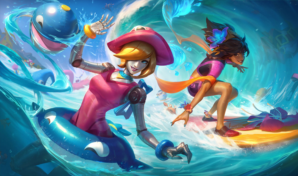 Pool Party 2020 Skin Line League of Legends