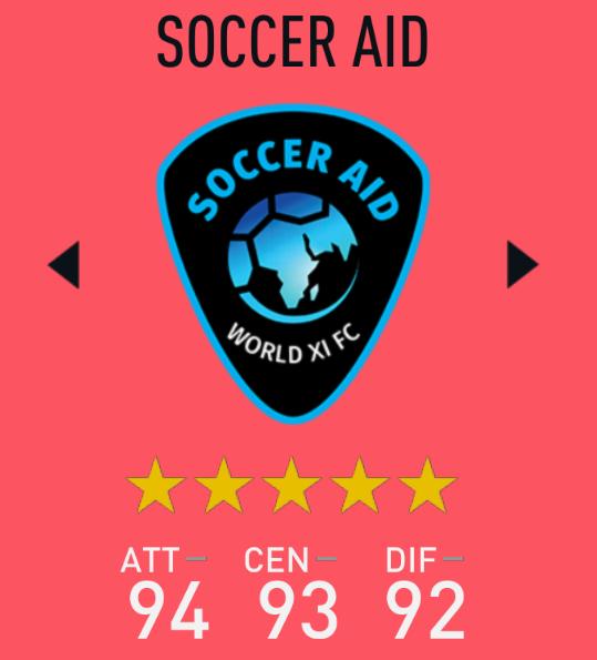 Soccer Aid World XI FIFA 20,