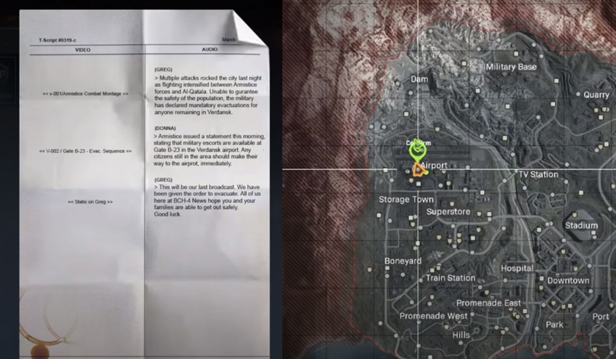 Call of Duty Saison 4 Semaine 1 - Intel Location 2