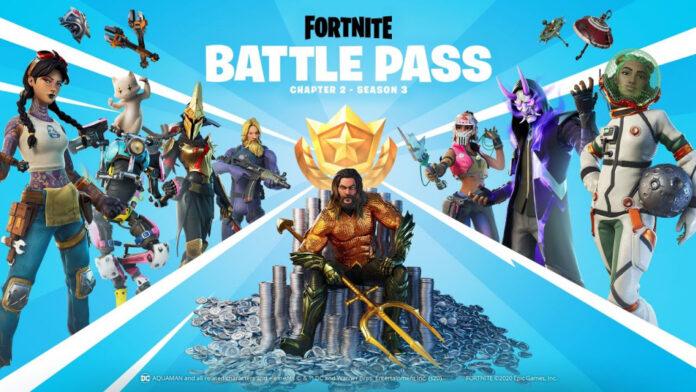 Fortnite Season 3 Battle Pass: bande-annonce de gameplay, Aquaman, Build-A-Brella, skins, récompenses, Fortilla et plus