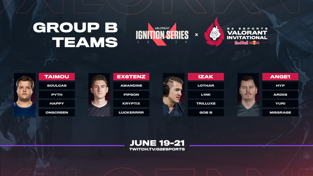 Équipes du groupe B Valorant G2 Invitational Ignition Series