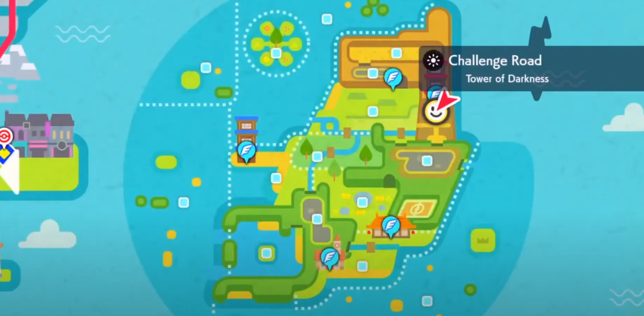 Zoroark - Tour des ténèbres Pokemon Den Emplacement