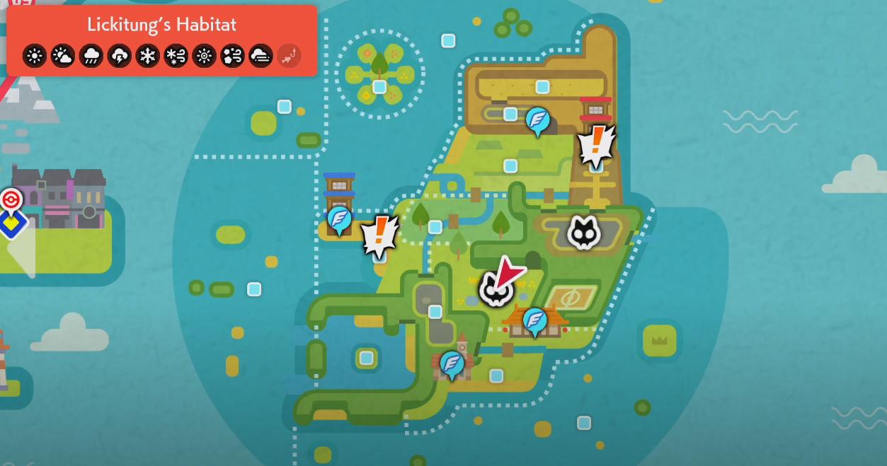 Pokemon Sword & Shield Lickitung Habitat