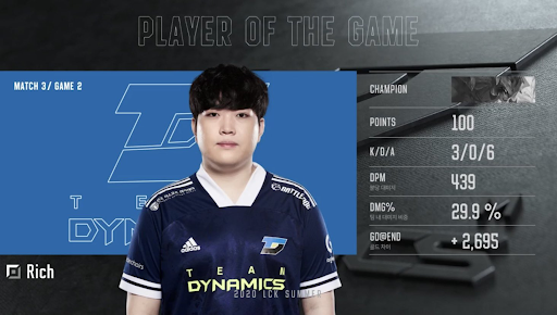 Team Dynamics League of Legends LCK Semaine 1
