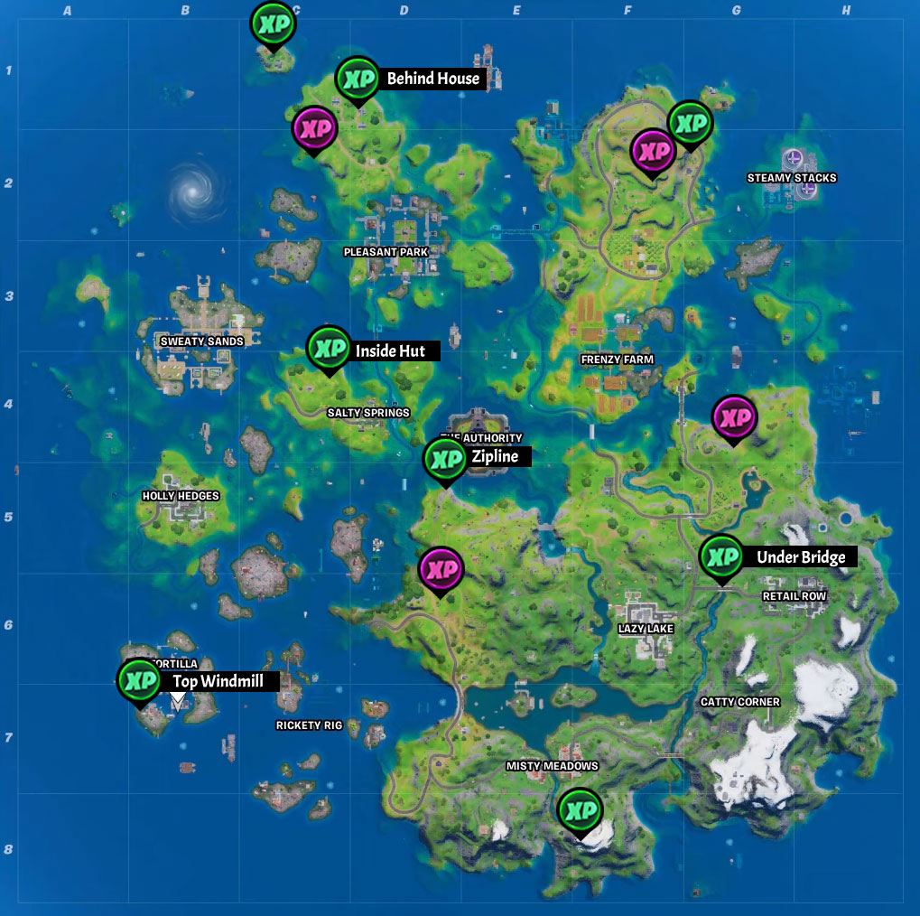 Fortnite Season 3 XP Coin Locations Semaine 2