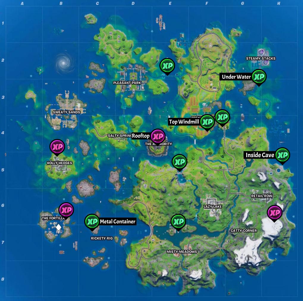 Fortnite Season 3 XP Coin Locations Semaine 1