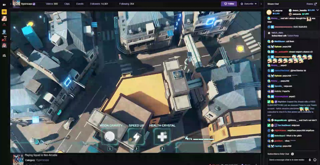 Streamers Hyper Scape et Twitch