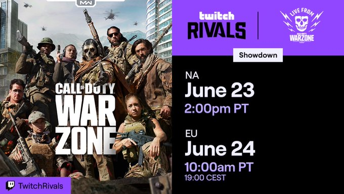 Twitch Rivals showdown Warzone schedule
