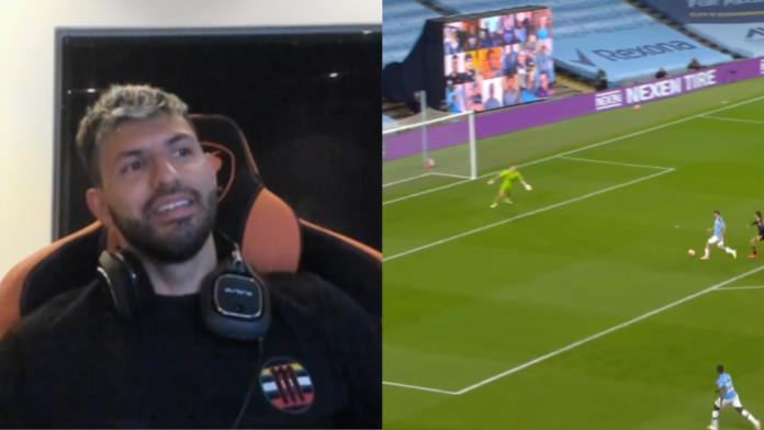 Aguero Man City analyses his goals vs Arsenal on stream Twitch