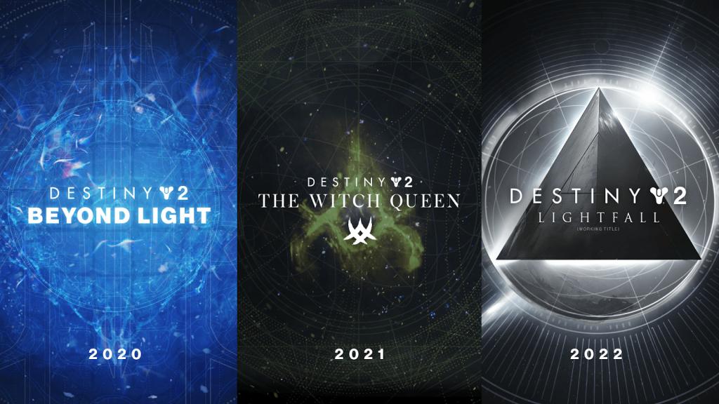 Destiny 2 Beyond Light, Destiny 2 The Witch Queen, Destiny 2 Light Fall