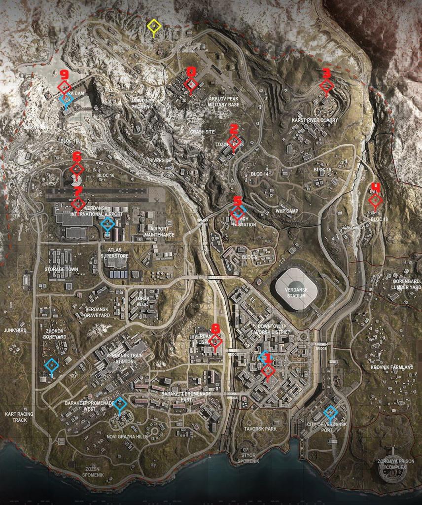 Minigun Warzone comment trouver le bunker d'accès 11