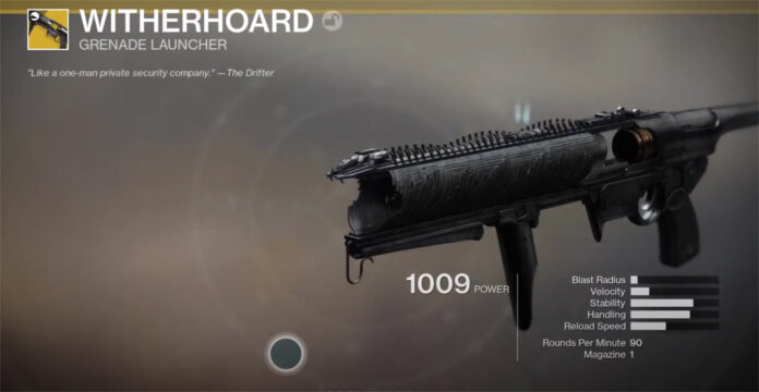 How to get the Witherhoard in Destiny 2