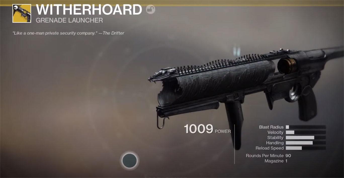 Comment obtenir le Witherhoard dans Destiny 2