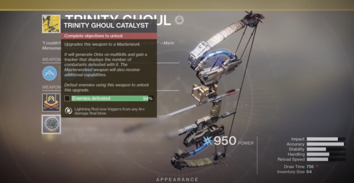How to get the Trinity Ghoul Catalyst in Destiny 2