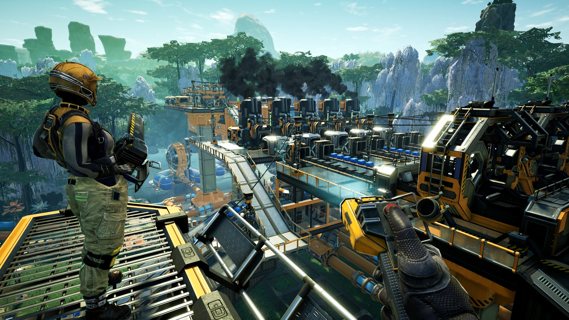 Des versions satisfaisantes du jeu de construction d'usine à la première personne sur Steam