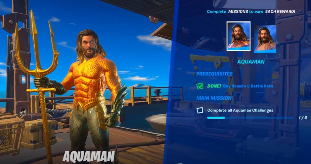 Aquaman Challenge Fortnite Unlock Skin
