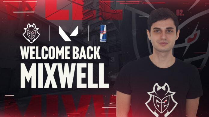 G2 Esports recrute Mixwell comme capitaine de l'alignement de Valorant