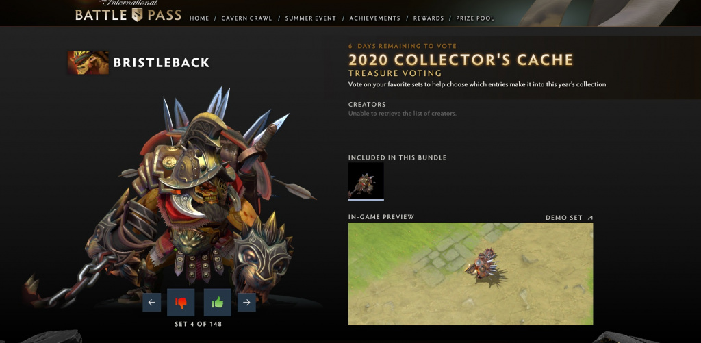 Dota 2 Collector's Cache vote Valve Dota 2 Battle Pass