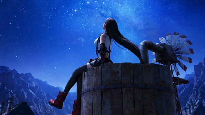 Free PS4 dynamic theme Tifa Lockhart Final Fantasy VII remake