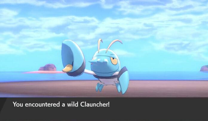 Où trouver Clauncher dans Pokemon Sword & Shield Isle of Armor